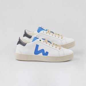 Man Sneakers SNIK WHITE BLUE BLACK White MAN