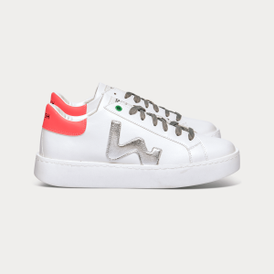 Woman Sneakers VEGAN CONCEPT WHITE SILV. FUXIA  White WOMAN