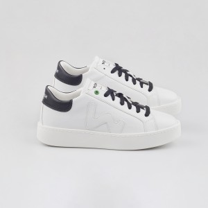 Woman Sneakers VEGAN CONCEPT WHITE BLACK White WOMAN