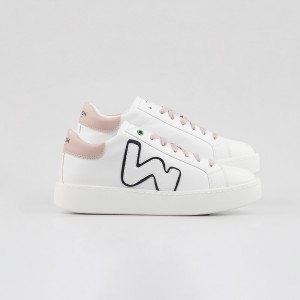 Woman Sneakers VEGAN CONCEPT ROSE BLACK White WOMAN