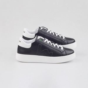 Woman Sneakers VEGAN CONCEPT BLACK WHITE Black WOMAN