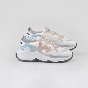 Woman Sneakers VEGAN FUTURA WHITE SKY White WOMAN