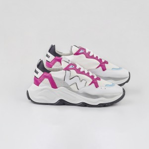 Woman Sneakers VEGAN FUTURA WHITE PINKY White WOMAN
