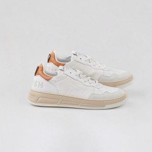Man Sneakers VEGAN HYPER WHITE ORANGE White MAN