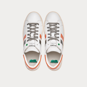 Sneakers Womsh Vegan line Sneakers VEGAN KINGSTON WHITE ORANGE VK201632