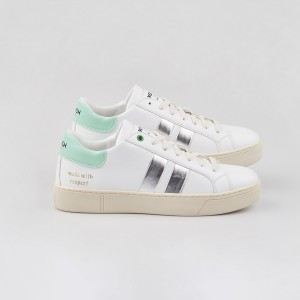 Woman Sneakers VEGAN KINGSTON WHITE WATER White WOMAN