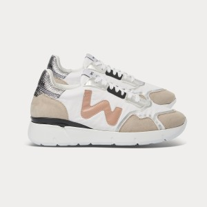 Woman Sneakers VEGAN RUNNY WHITE SILVER White WOMAN