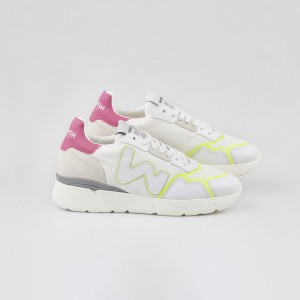 Woman Sneakers VEGAN RUNNY FLUO White WOMAN