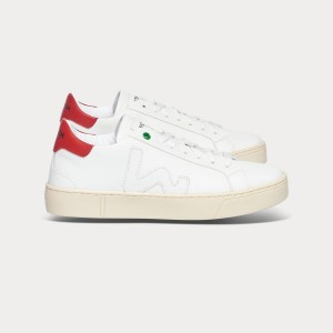 Man Sneakers VEGAN SNIK WHITE RED White UNISEX