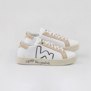 Woman Sneakers VEGAN SNIK WHITE SAND White WOMAN