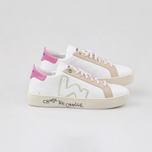 Woman Sneakers VEGAN SNIK WHITE PINKY White WOMAN
