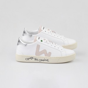 Woman Sneakers VEGAN SNIK WHITE BLUSH White WOMAN