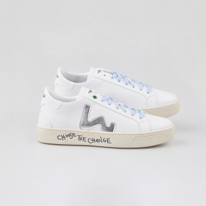 Woman Sneakers VEGAN SNIK WHITE SILVER White WOMAN