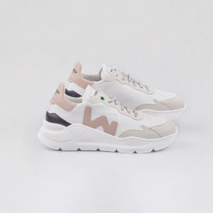 Woman Sneakers VEGAN WAVE WHITE ROSE White WOMAN