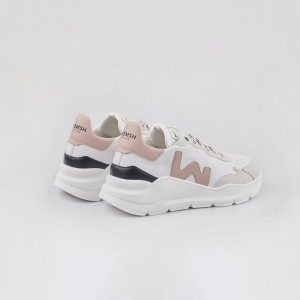 Sneakers Womsh Woman Sneakers VEGAN WAVE WHITE ROSE VW201836