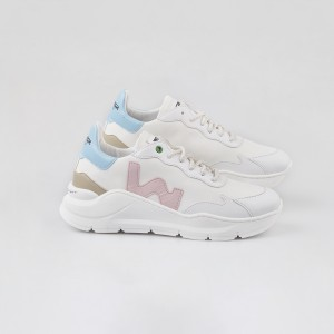 Woman Sneakers VEGAN WAVE WHITE SKY White WOMAN