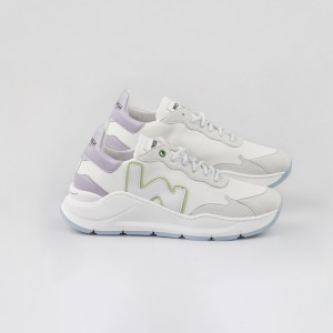 Woman Sneakers VEGAN WAVE WHITE LILAC White WOMAN