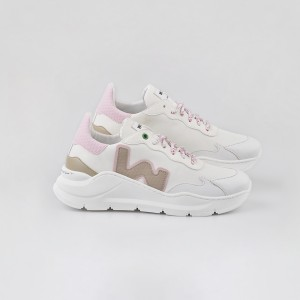 Woman Sneakers VEGAN WAVE WHITE SNOOPY White WOMAN