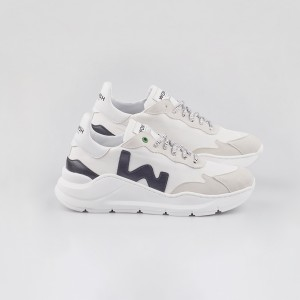 Man Sneakers VEGAN WAVE WHITE BLACK White MAN
