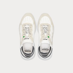 Sneakers Womsh Woman Sneakers WAVE WHITE BLACK W190805