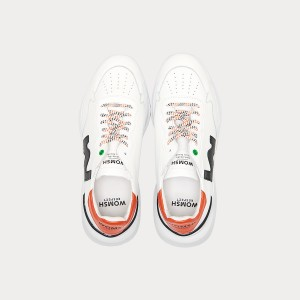 Sneakers Womsh  WAVE WHITE BLACK ORANGE W190852