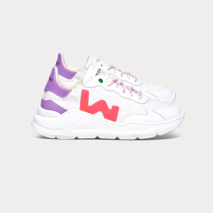 Woman Sneakers WAVE WHITE FUXIA White WOMAN