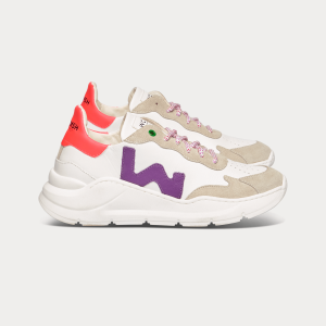 Woman Sneakers WAVE WHITE PURPLE White WOMAN