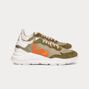 Man Sneakers WAVE GREEN ORANGE  MAN