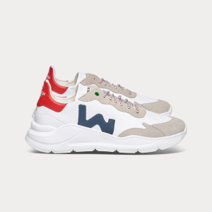 Man Sneakers WAVE WHITE BLUE RED White MAN