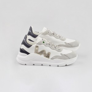 Woman Sneakers WAVE WHITE PLATIN White WOMAN