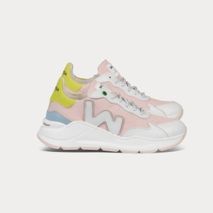 Woman Sneakers WAVE PINK SUN White WOMAN
