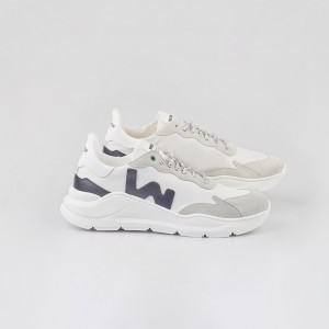Man Sneakers WAVE WHITE BLACK White MAN
