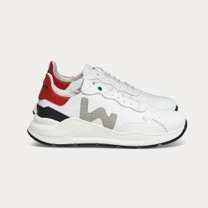 Man Sneakers WAVE WHITE GREY RED White MAN